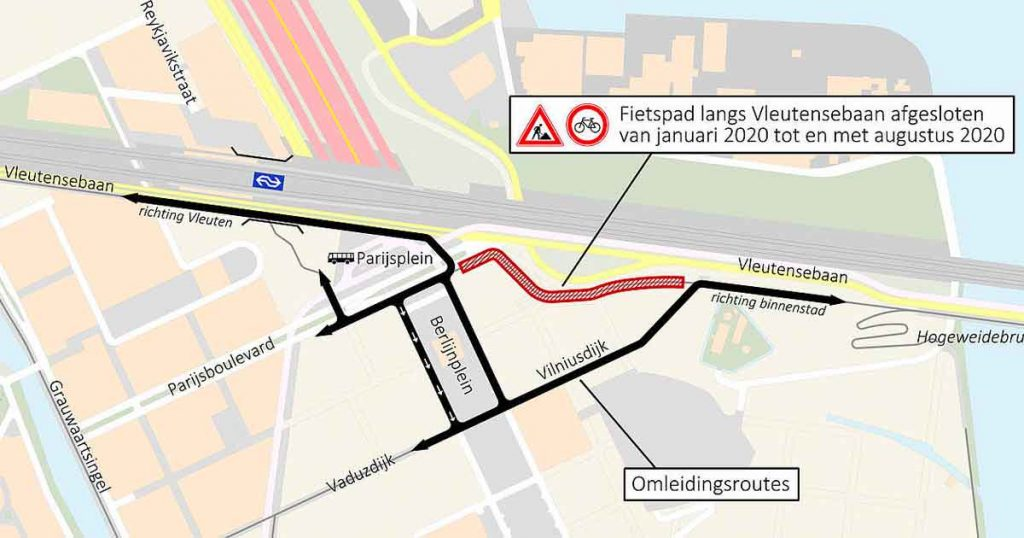 Omleiding-fietsers-Vleutensebaan
